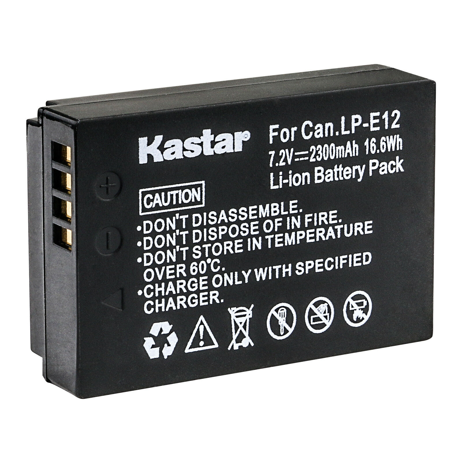 Kastar Replace Camera Battery for Canon LP-E12 LC-E12 LPE12 Canon EOS M50 Camera